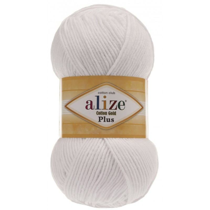 Alize Cotton Gold Plus №55 Белый