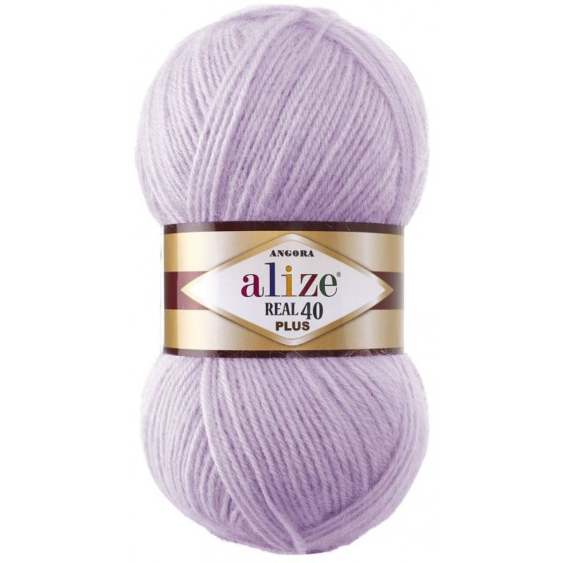 Alize Angora real 40 Plus №198 Роза