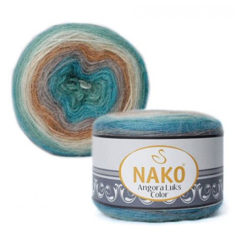 Nako Angora Luks Color №81906 М.волна/беж
